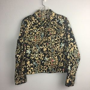 BEAUTIFUL CHICOS COTTON CROP JACKET SIZE 0